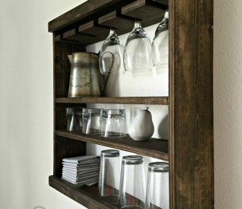 Pottery Barn Inspired Glass Rack (Modular)