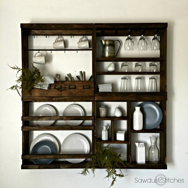 Pottery Barn Inspired Mug Rack Modular Sawdust 2 Stitches