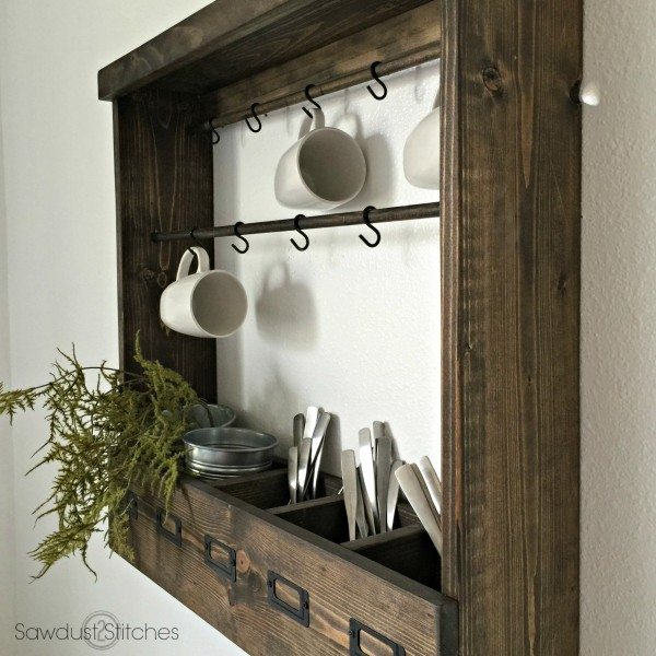 Pottery Barn Inspired Mug Rack (Modular)