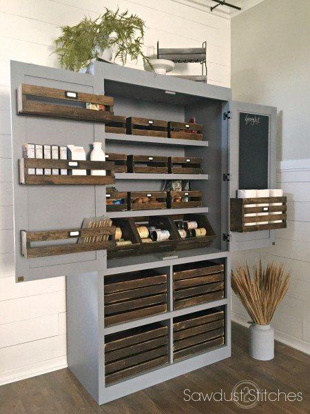 DIY ideas for a rustic industrial farmhouse pantry