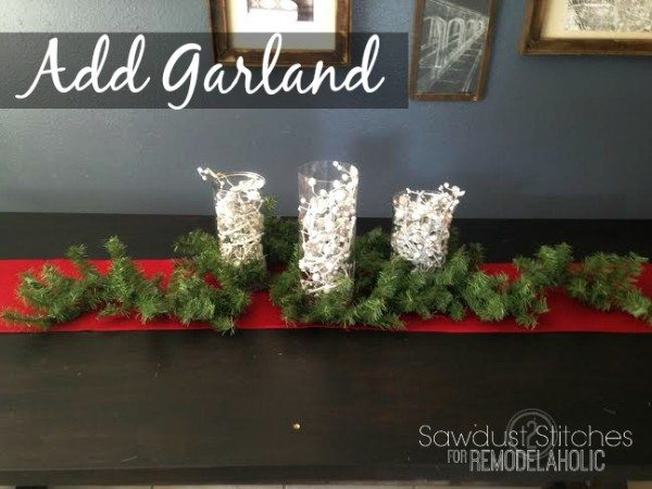 add garland table scape sawdust2stitches remodelaholic