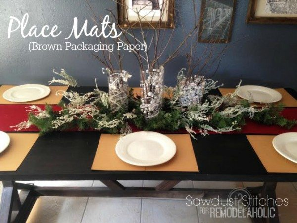 place mats brown
