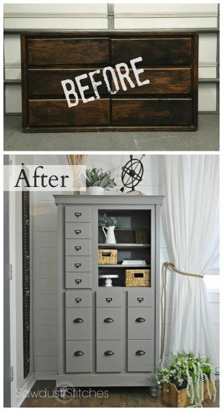 Dresser Makeover Into A Mini Mudroom Sawdust 2 Stitches