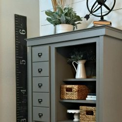 Dresser Makeover into a Mini Mudroom