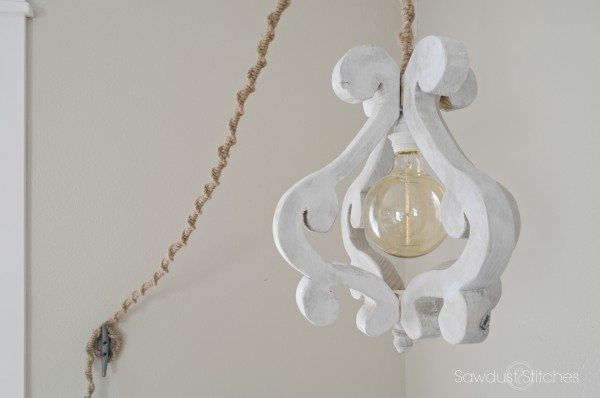 Make your own DIY wooden chandelier/light fixture