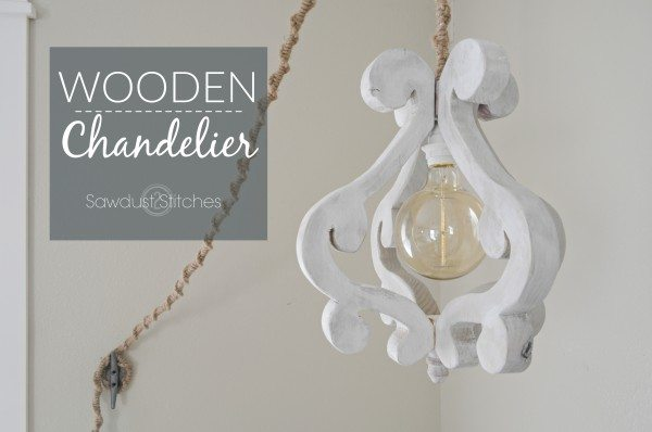 Make your own wooden chandelier out of wood.