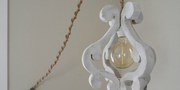DIY Wooden Chandelier Light Fixture
