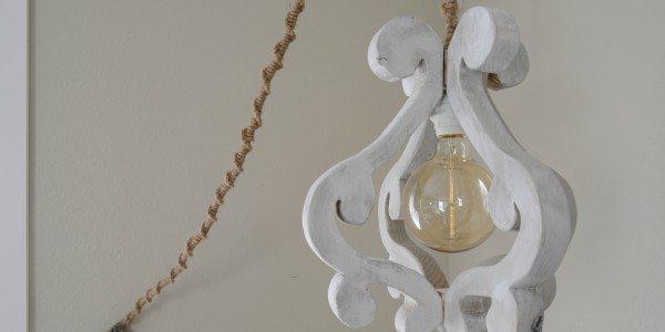 DIY Wooden Chandelier Light Fixture