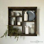 Pottery Barn Inspired Cubby Shelf  (Modular)