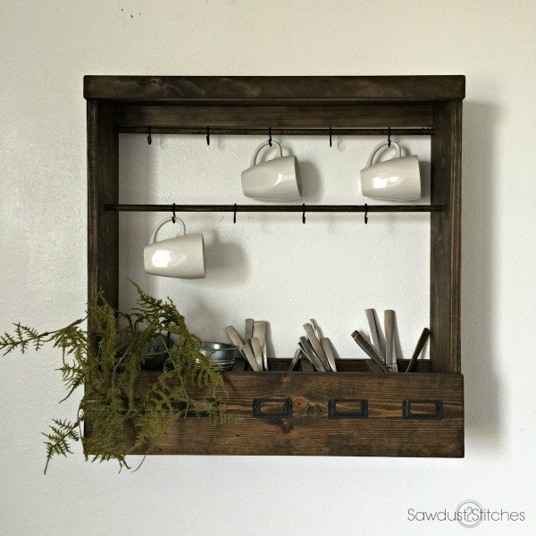 Mug Rack by Sawdust 2 Stitches