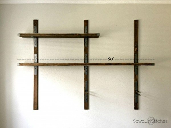 Simpson Industrial Wall mounted Shelves diy