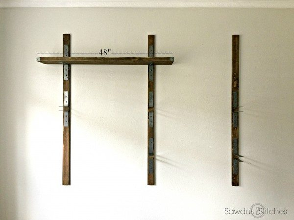Simpson Industrial wall mounted shelves