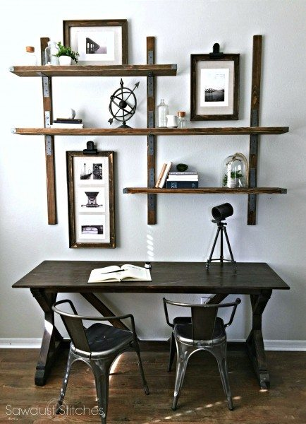 -Simpson Strong-tie rustic industrial 2shelves