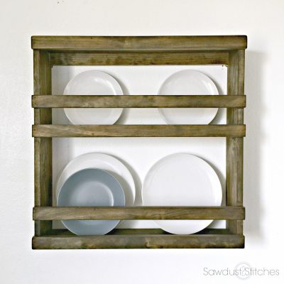 Pottery Barn Inspired Plate Rack