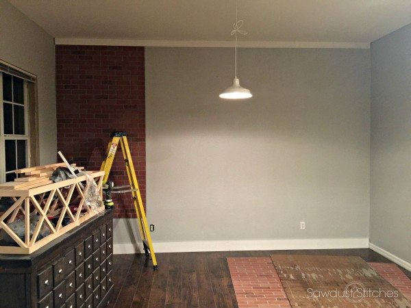 How to Faux Brick Panel Wall