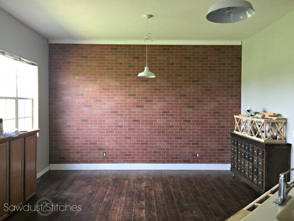 -How to Faux Brick wall Panel by Sawdust2stitches.com