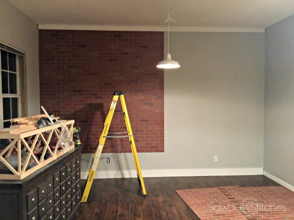 How To Ly Faux Brick Panel