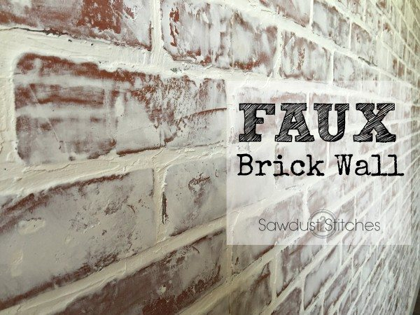 Sawdust2Stitches How to create a realistic Brick wall using faux paneling!