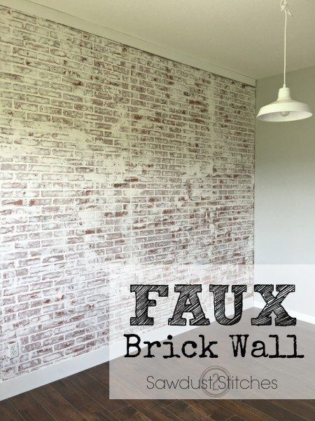 how to create a realistic faux brick wall out of paneling. Black Bedroom Furniture Sets. Home Design Ideas