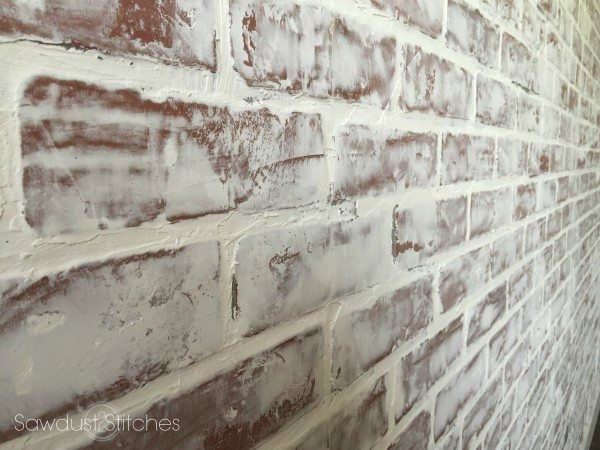 faux brick paneling by www.sawdust2stitches.com