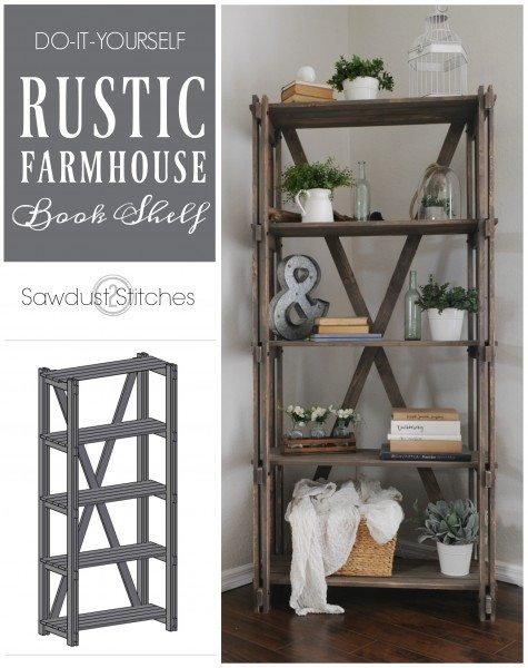 -How to make a Arhaus inspired book shelf bookcase sawdust2stitches.com