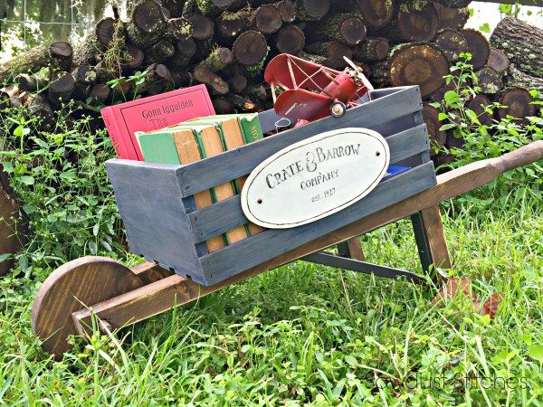 Rustic Wheelbarrow by Sawdust2stitches
