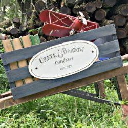 rustic Wheelbarrow DIY Sawdust2Stitches.com