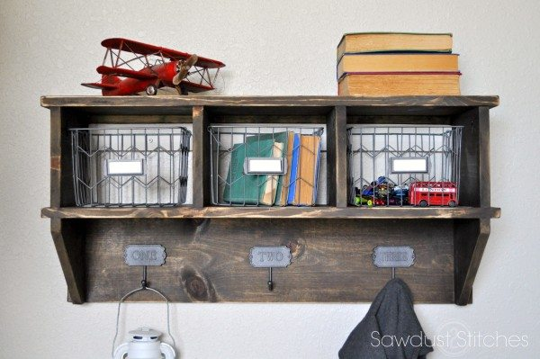 Pottery Barn Inspired Cubby Organizer