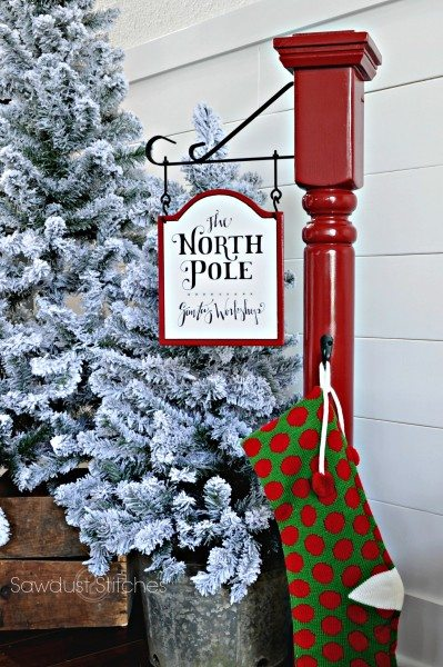 How To Build A North Pole Stocking Post By