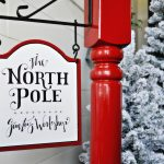 North Pole Stocking Post