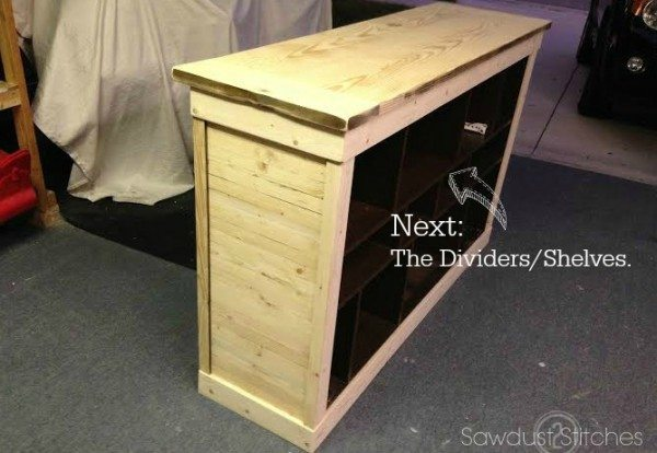 How to transform an Ikea console into a Pottery Barn Style Apothecary by Sawdust 2 Stitches 11