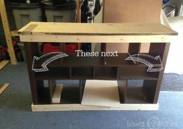 How to transform an Ikea console into a Pottery Barn Style Apothecary by Sawdust 2 Stitches 5