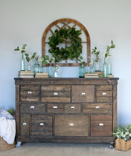 Ikea Makeover Into Pottery Barn Style Apothecary By Sawdust 2 Sches