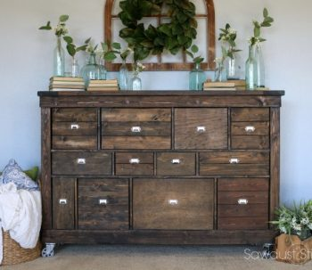 IKEA Makeover into Pottery Barn Style Apothecary