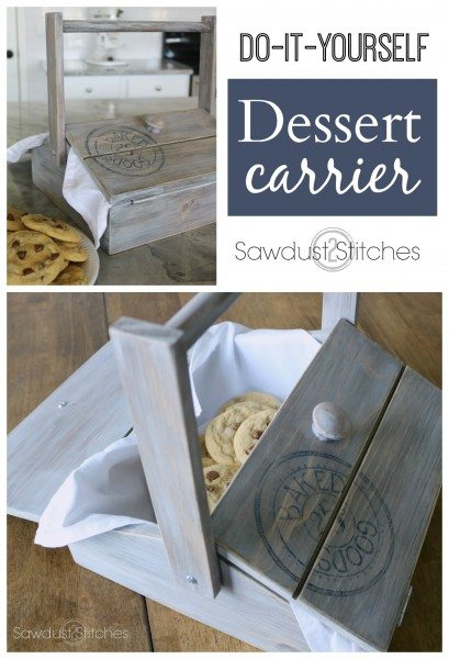 Dessert Carrier Pie Box by Sawdust 2 Stitches
