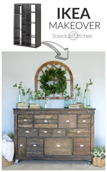 - Ikea Makeover into Pottery Barn Apothecary sawdust 2 Stitches