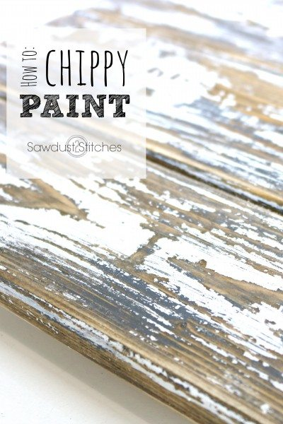 Layered Chippy Paint Finish
