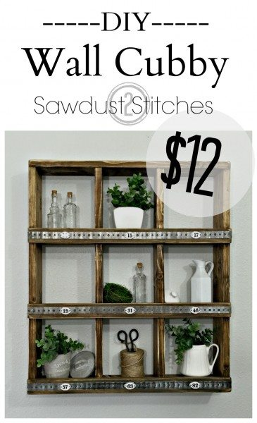DIY Rustic wall cubby by Sawdust 2 stitches