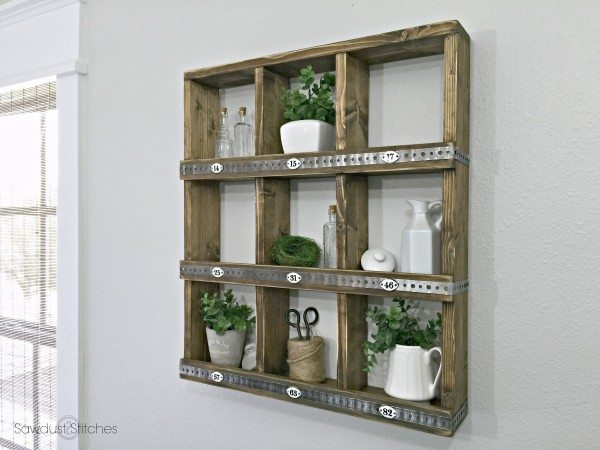 Rustic Wall shelf Cubby 2