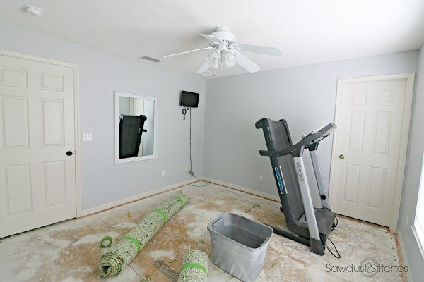 Home Gym Makeover Process by Sawdust 2 Stitches 2