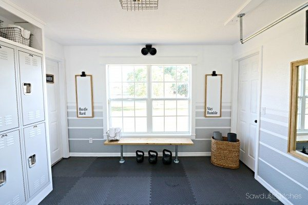 -Home Gym Makeover Reveal by Sawdust 2 Stitches.com