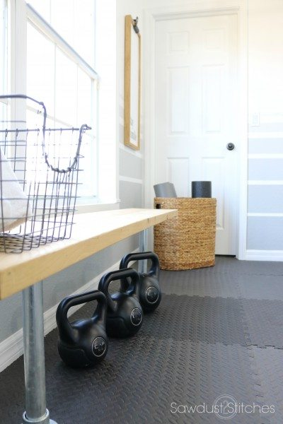 Home Gym Makeover by Sawdust 2 Stitches reveal 2