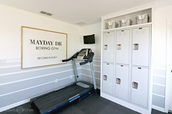 -Home Gym Makeover by sawdust2stitches.com