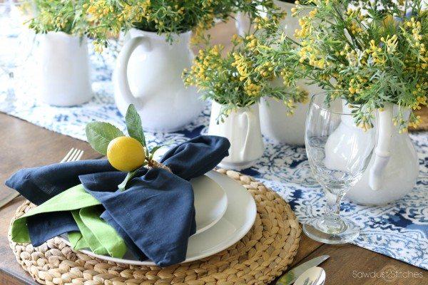 Summer Lemon Tablescape
