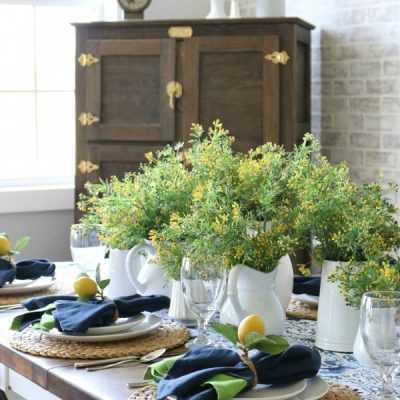 Summer Lemon Tablescape
