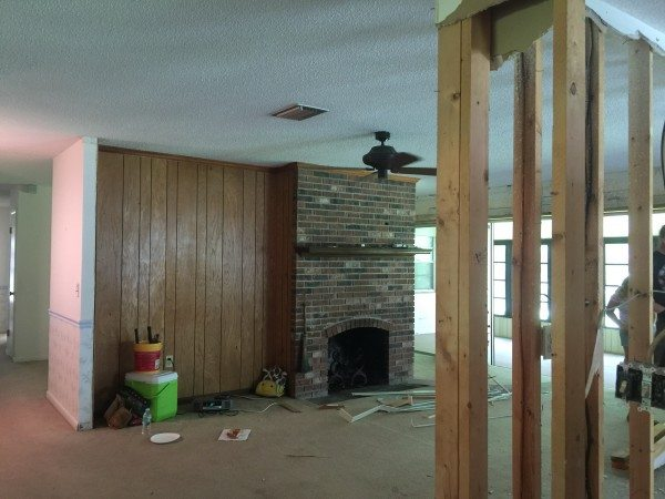 Here Is A Small Snapshot Of The Progression Of The Space. We Tore Down Some  Walls, And Made It Feel A Lot More Open!