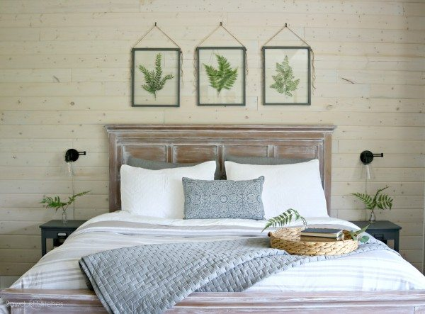 Master Bedroom Makeover With Shiplap Accent Wall By Www Sawdust2siches 3
