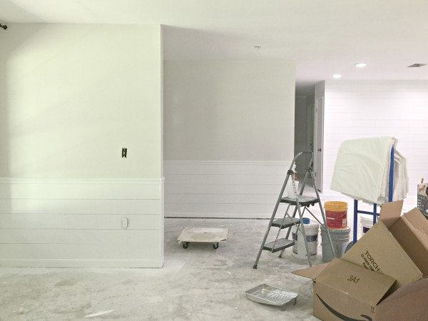 Covering Wallpaper with Faux Shiplap