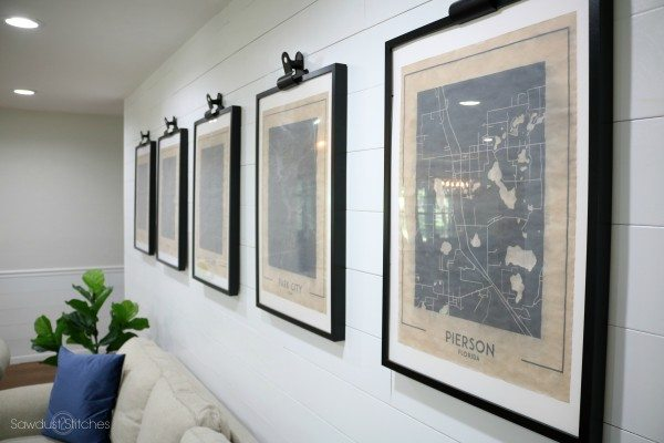 Vintage Map Wall Art - Custom Pieces Of Wall Art On A Budget