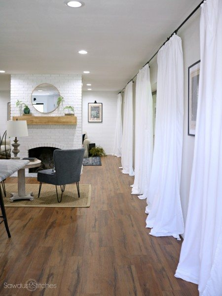 cheap white curtains for $5 per panel